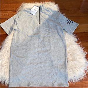Zara grey sweatshirt dress